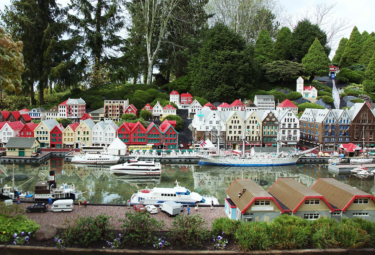 Zdjęcia: Billund, Legoland, Jutlandia, Świat z klocków: Bergen, DANIA