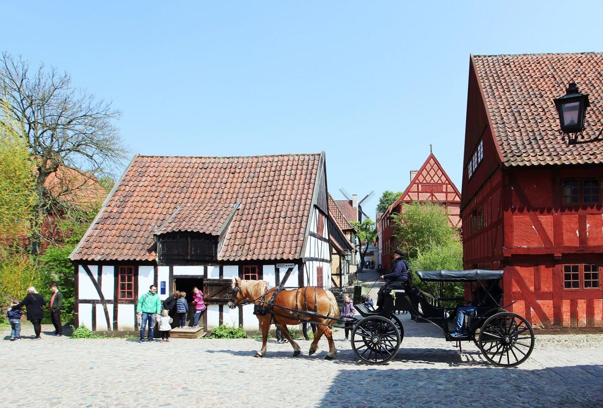 Zdjęcia: Stare Miasto, Aarhus, Dorożka, DANIA