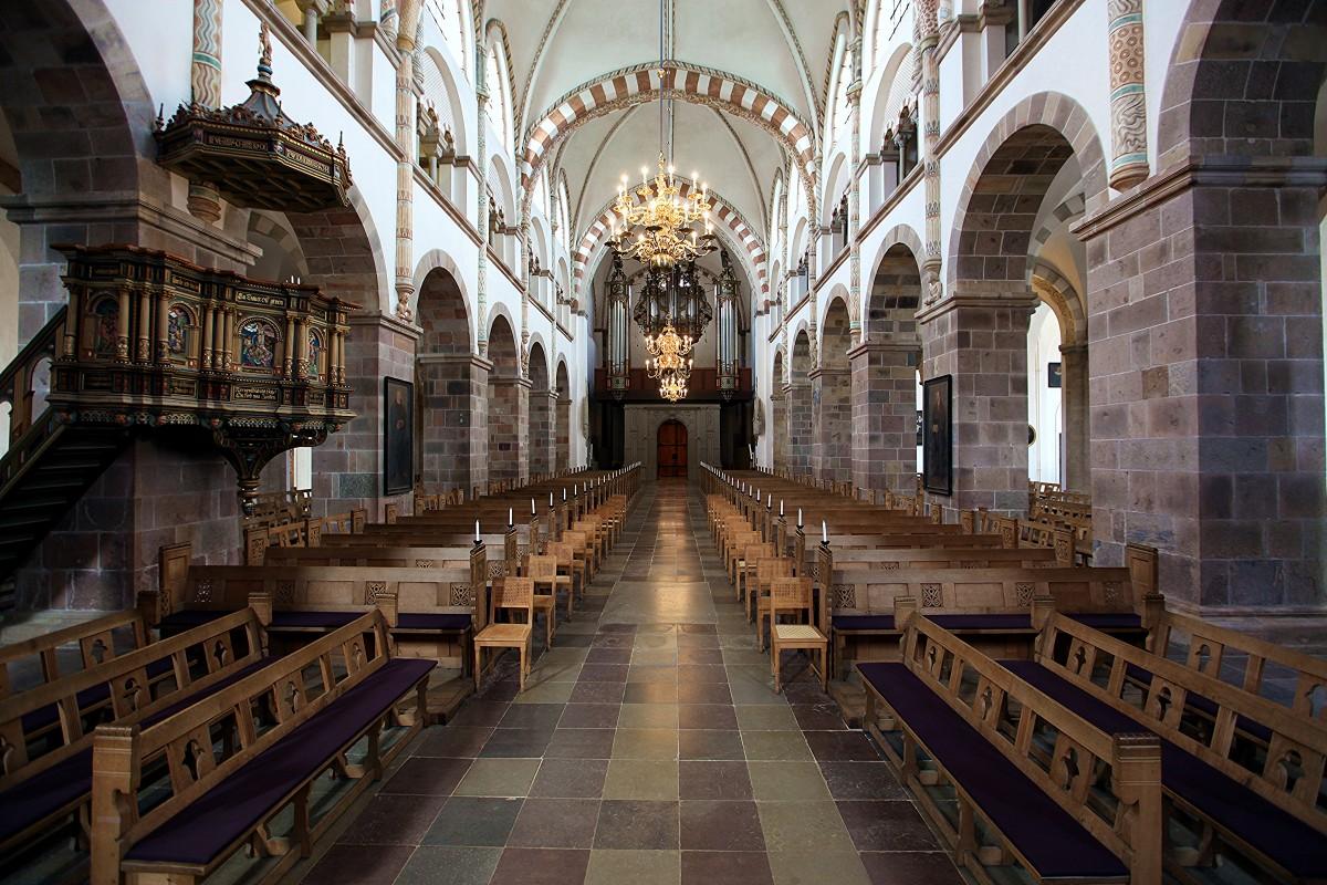 Zdjęcia: Katedra Najświętszej Maryi Panny, Ribe, Nawa główna, organy, DANIA