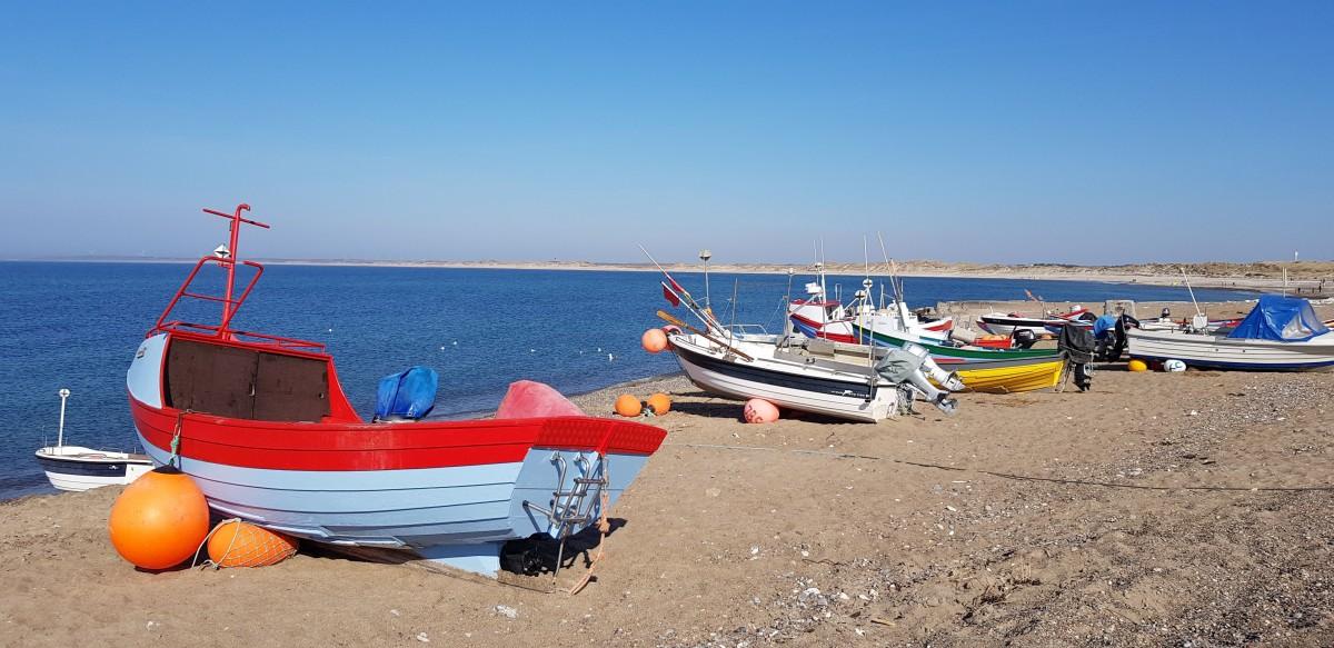 Zdjęcia: Miejscowość Klitmoller, Północna Jutlandia, W kolorowych łowi się lepiej, DANIA