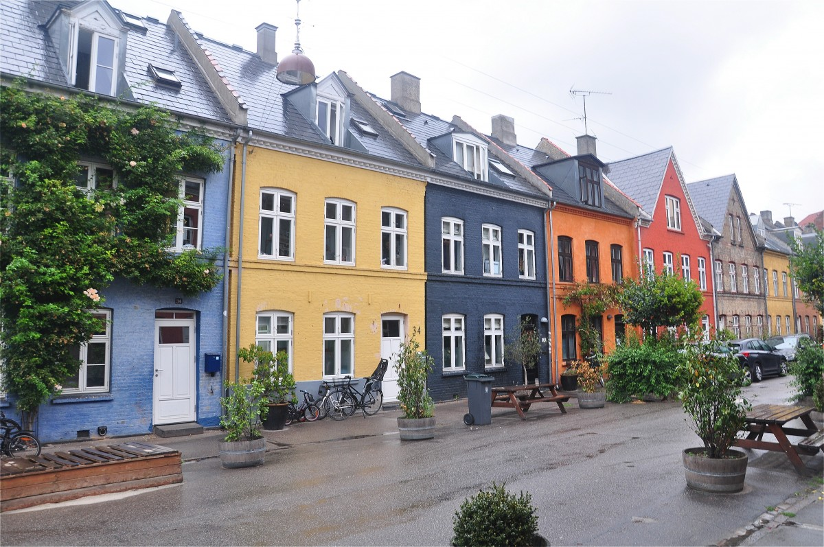 Zdjęcia: Kopenhaga, Zelandia, Uliczka z dala od centrum miasta, DANIA
