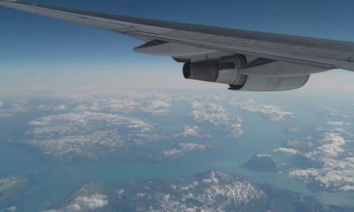 Zdjecie DANIA / Grenlandia (Terytorium autonomiczne Danii) / Południowa część wyspy / Grenlandia z samolotu