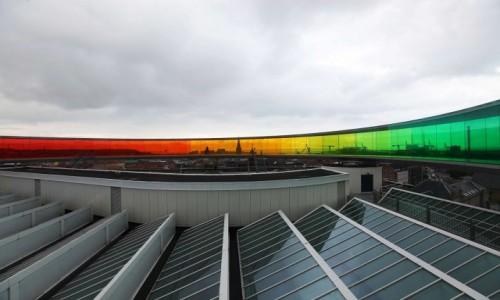 Zdjecie DANIA / Aarhus / Muzeum Sztuki ARoS / Na dachu z tęczową panoramą