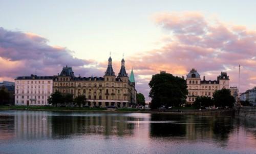 Zdjecie DANIA / Kopenhaga / Jezioro Peblinge  / Zmierzch
