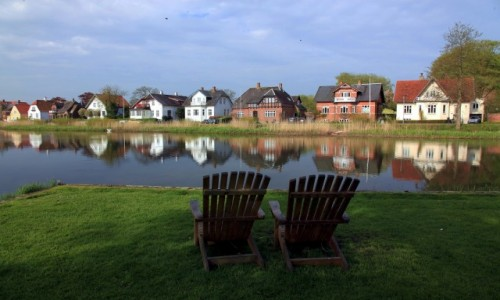 Zdjecie DANIA / Południowo-zachodnia Jutlandia / Ribe, park miejski / Miejscówka dla dwojga