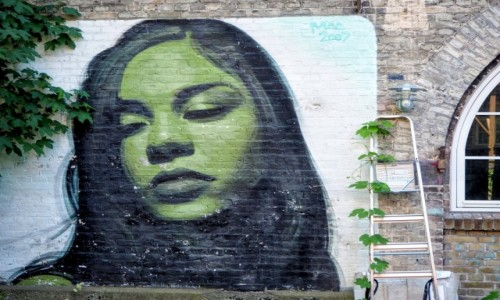 Zdjęcie DANIA / Kopenhaga / Christianshavn / Graffiti w Christiania