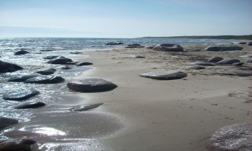 DANIA / brak / Bornholm / Duńska plaża