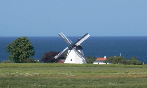 DANIA / Bornholm / Arsdate / Bornholm. Wiatrak w Arsdate.
