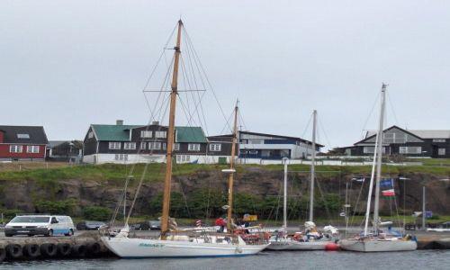 Zdjecie DANIA / Wyspy Owcze / Port / Polskie jachtyw Thorshavn