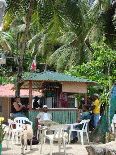 Zdjęcia: Półwysep Samana, plażowa restauracja, DOMINIKANA
