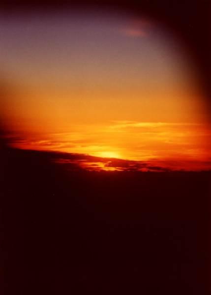 Zdjęcia: Samolot, Atlantyk, Zachód słońca nad Atlantykiem, DOMINIKANA