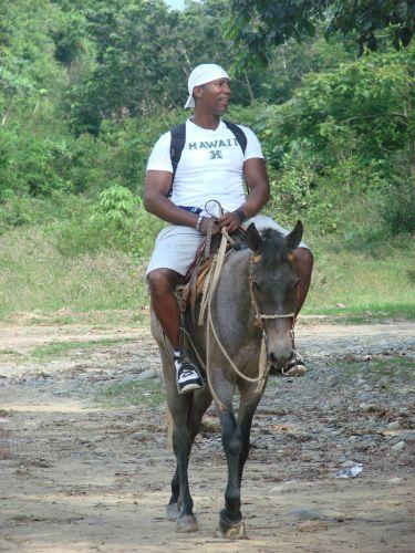Zdjęcia: region Jarabacoa znany z hodowli koni, u zbiegu rzek Rio Jimenoa i Rio Yaque del Norte, DOMINIKANA
