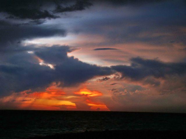 Zdjęcia: Bayahibe, Bayahibe, Zachód słonca nad morzem karaibskim, DOMINIKANA