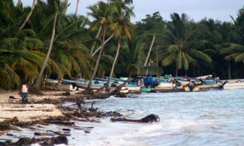 Zdjecie DOMINIKANA / Bayahibe / Bayahibe / Wybrzeże po sztormie