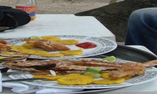 DOMINIKANA / brak / Samana / fritos verdes y pescado