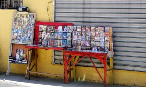 Zdjęcie DOMINIKANA / brak / Santiago / uliczny sklep muzyczny