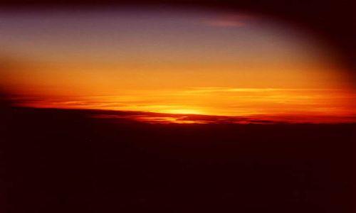 Zdjecie DOMINIKANA / Atlantyk / Samolot / Zachód słońca nad Atlantykiem