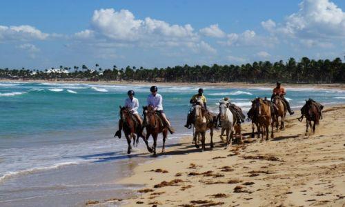 Zdjęcie DOMINIKANA / płn- wsch wyspy / na płn od Punta Cana / Na ranczu z plażą