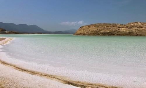 DżIBUTI / Region Dikhil / Jezioro Assal / Błękit Afryki