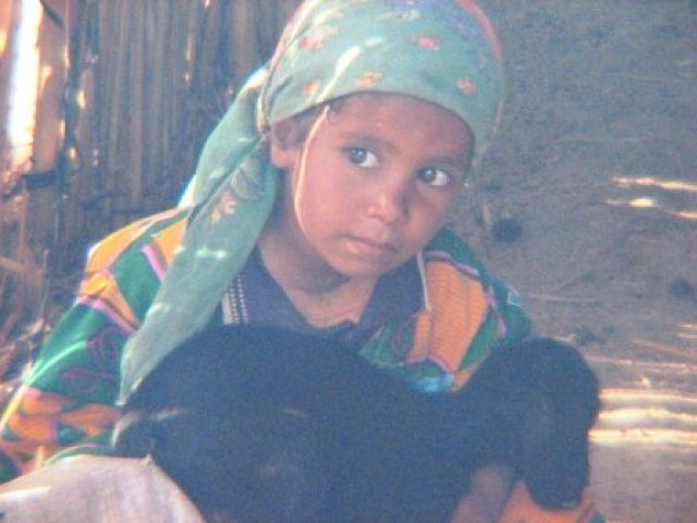 Zdjęcia: oaza, sahara, mała Beduinka, EGIPT