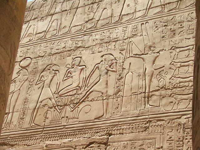 Zdjęcia: LUXOR, ŚCIANY W KARNAKU, EGIPT