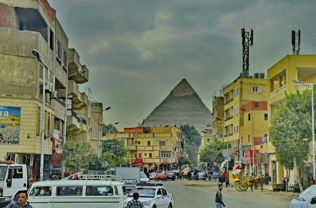 Zdjęcia: Giza, Kair, Ulica w Gizie, EGIPT