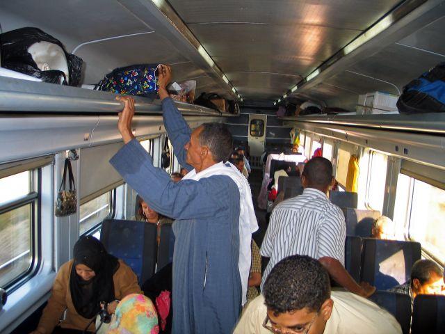 Zdjęcia: Kair - Luksor, W pociągu, EGIPT