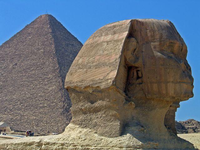 Zdjęcia: Kair-Gizy, Oblicze Sfinksa, EGIPT