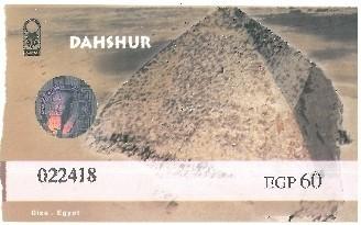 Zdjęcia: Kair, Afryka, bilet dahszur, EGIPT
