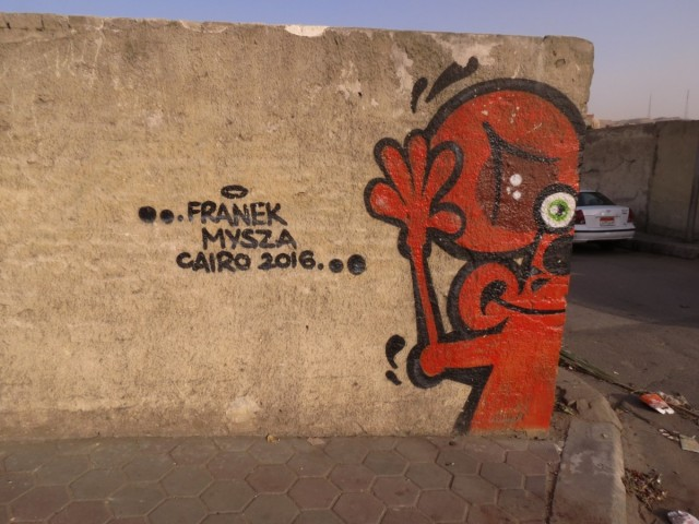 Zdjęcia: Kair, Afryka, m umarłych mural, EGIPT