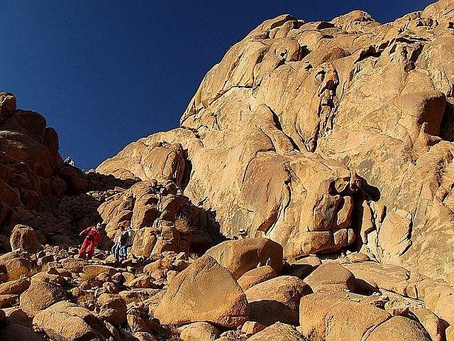 Zdjęcia: G. Mojżesza, Półwysep Synaj, Zejście z G. Mojżesza - Kamienne Schody, EGIPT