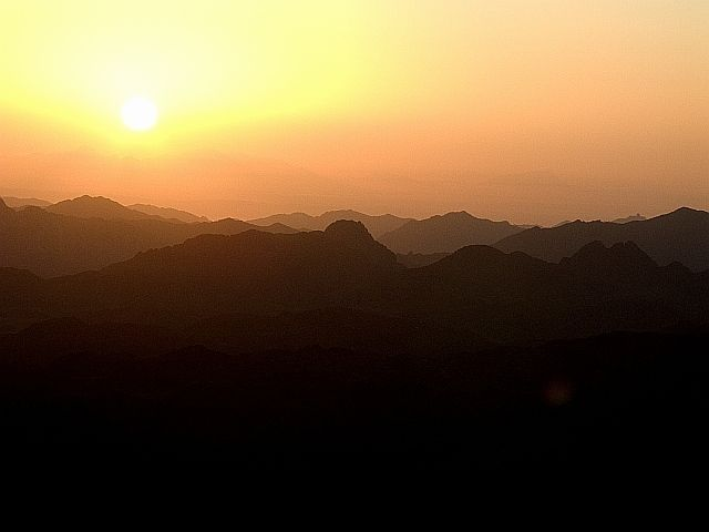 Zdjęcia: G. Mojżesza, Półwysep Synaj, Wschód Słońca, EGIPT