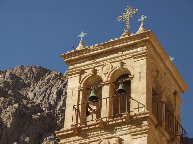 Zdjęcia: Klasztor Św. Katarzyny, Półwysep Synaj, Dzwonnica, EGIPT