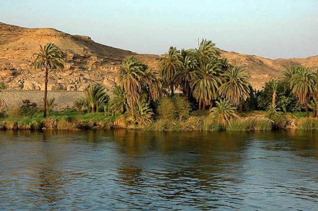 Zdjęcia: Nil, blisko Asuanu, rejs Nilem popołudniowe widoki , EGIPT