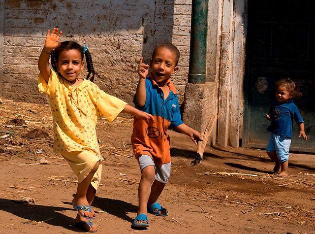Zdj�cia: Okolice Dandary, G�rny Egipt, Dzieci, EGIPT