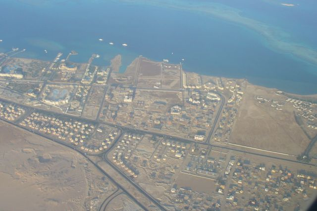 Zdjęcia: samolot, Hurgada, z lotu ptaka, EGIPT