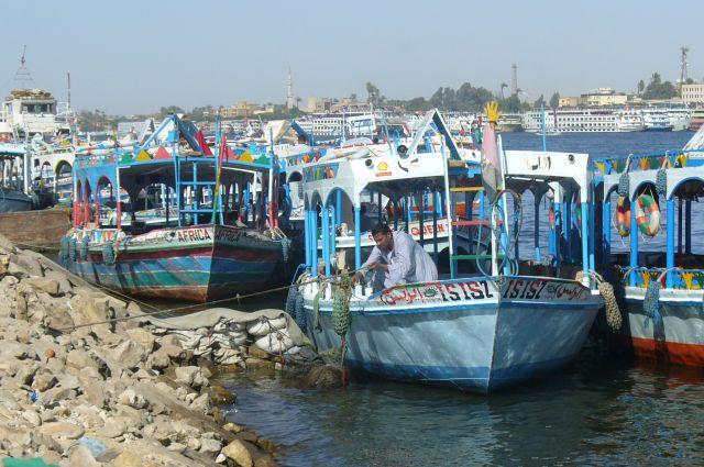 Zdj�cia: w drodze do Luxoru, na Nilu, EGIPT