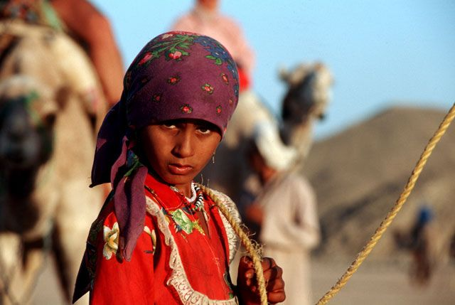 Zdj�cia: Hurghada, M�oda Beduinka, EGIPT