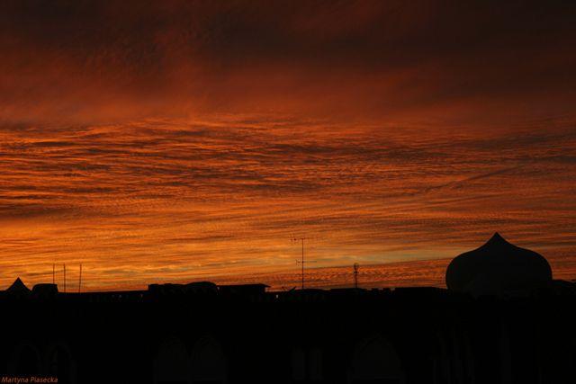 Zdjęcia: Hurghada, Zachód słońca nad górami, EGIPT