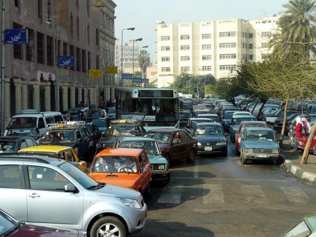 Zdjęcia: Kair, Afryka, Ruch uliczny, EGIPT