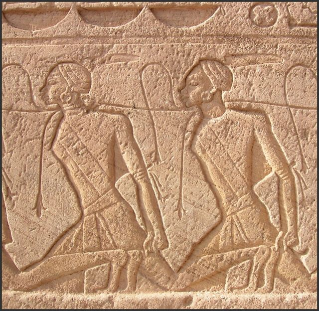 Zdjęcia: Abu Simbel, Egipt Południowy, Kobiety z Nubii - relief, EGIPT