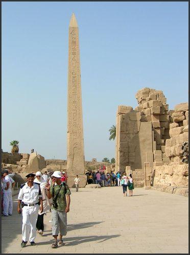Zdjęcia: Karnak, Egipt część wschodnia, Jeden z obelisków, EGIPT