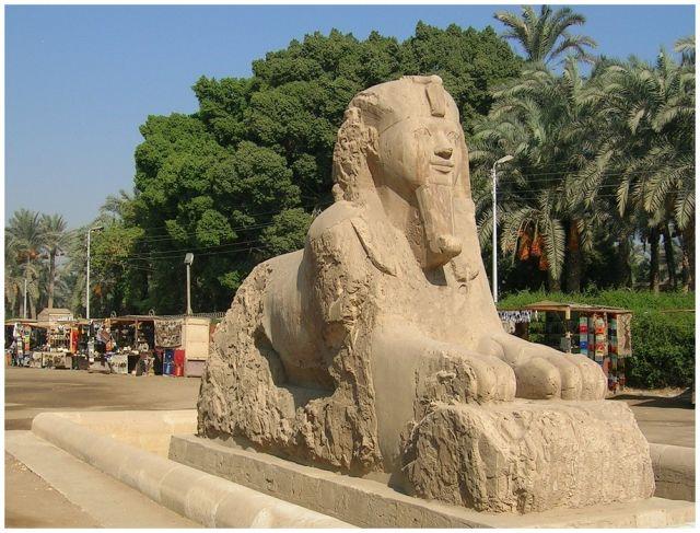 Zdjęcia: Memphis, Egipt północny, Inny Sfinks, EGIPT