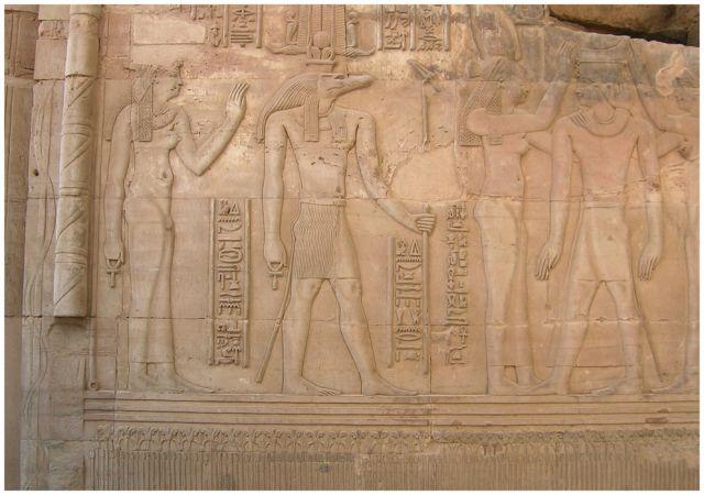 Zdjęcia: Kom Ombo , Egipt wschodni, Sobek krokodylogłowy, EGIPT
