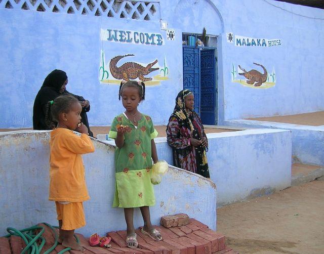 Zdjęcia: okolice Asuanu, Egipt wschodni, Mieszkanki wioski nubijskiej, EGIPT