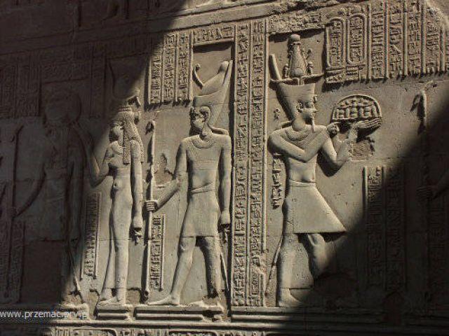 Zdjęcia: Kom Ombo, Reliefy, EGIPT