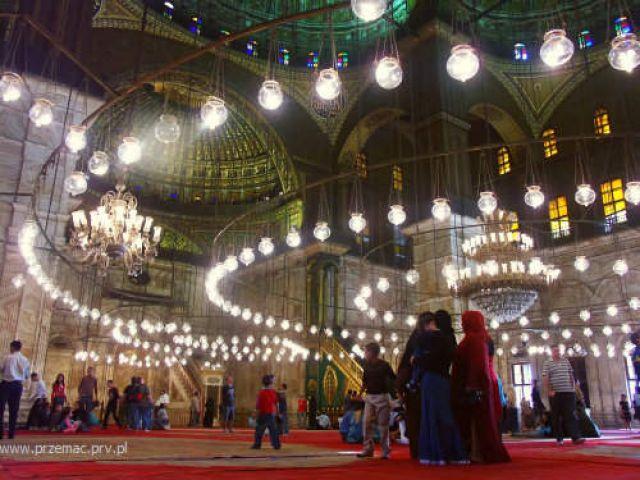 Zdjęcia: Kair (cytadela), Meczet Muhammada Alego - wnętrze, EGIPT