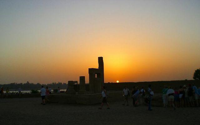 Zdjęcia: Kom Ombo, Zachód nad Kom Ombo, EGIPT
