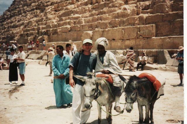 Zdjęcia: Giza, Pod piramida Cheopsa, EGIPT