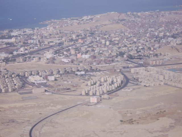 Zdjęcia: gdzieś wysko, Hurgada, z lotu ptaka, EGIPT